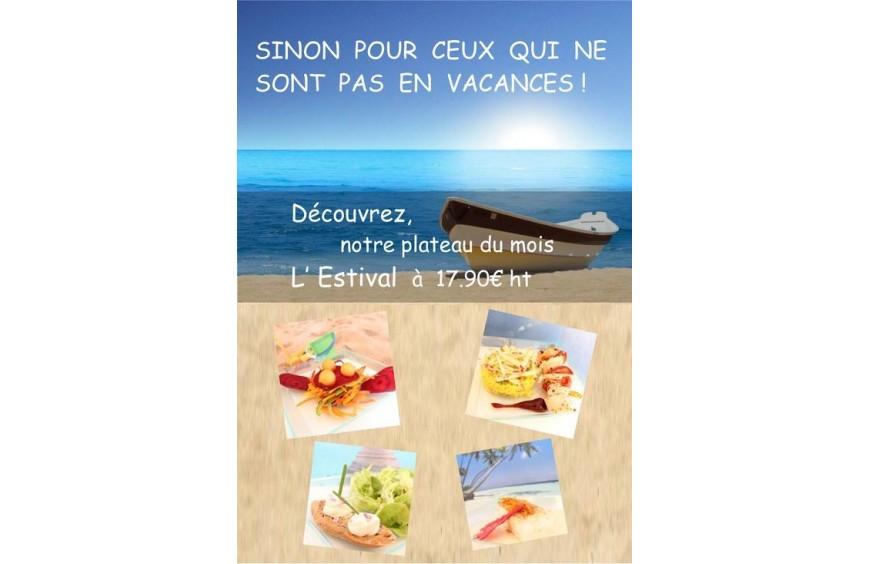 L'Estival, notre plateau repas du mois, fait maison par Lecointe Traiteur, en livraison sur Rouen et sa région