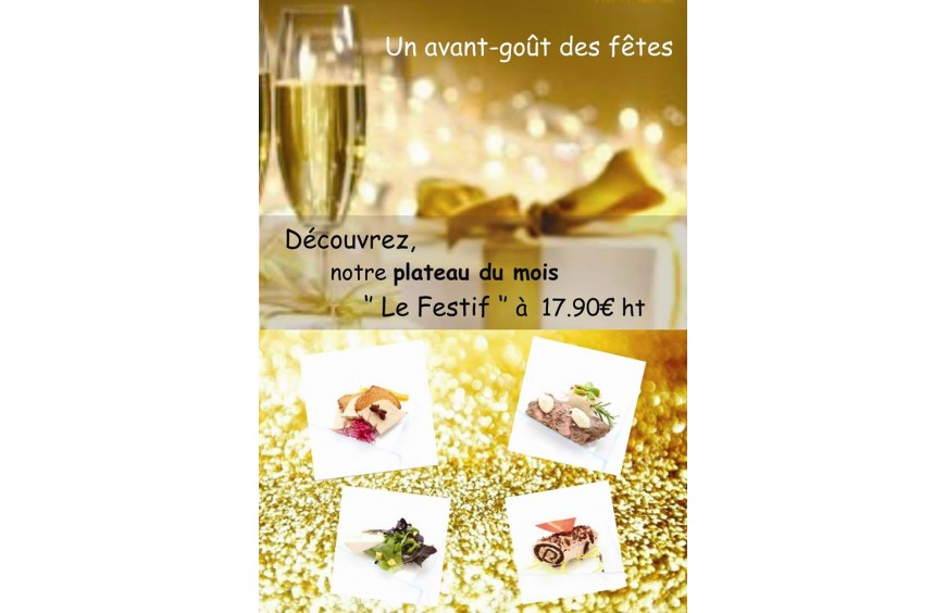 Le Festif, notre plateau repas du mois, fait maison par Lecointe Traiteur, en livraison sur Rouen et sa région